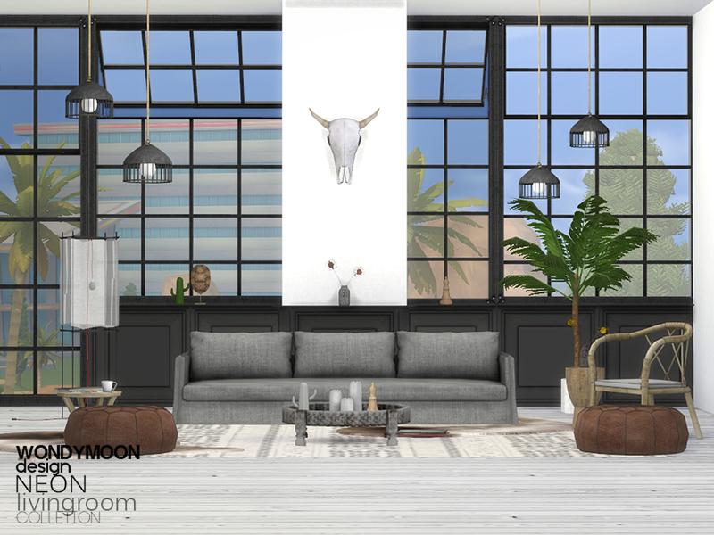 Wondymoon S Neon Livingroom