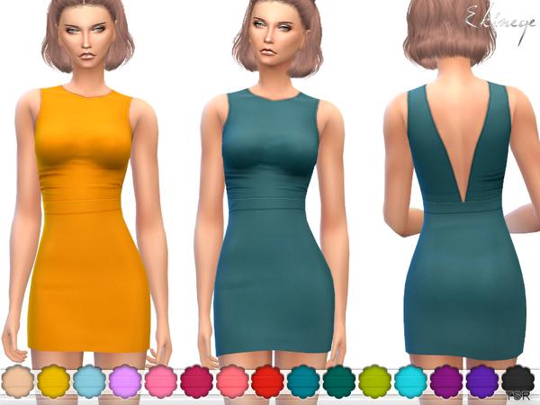 V Back Mini Dress
