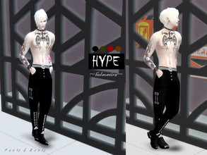 Sims 4 — HYPE - MALE Boots by Helsoseira — Gothic industrial boots for gentlemen, in black. The in game boots.