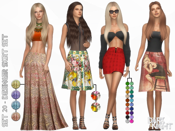 SET 20   Designer Skirt Set