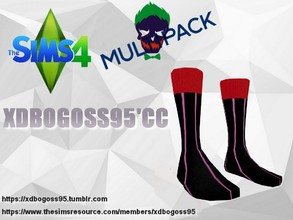 Sims 4 — Joker socks from Suicide Squad by xdbogoss95 — Joker's socks from the film Suicide Squad.