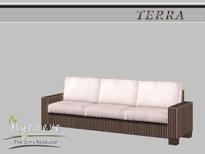 Sims 3 — Terra Sofa by NynaeveDesign — Terra Patio - Sofa Located in: Comfort - Miscellaneous Comfort Price: 382 Tiles: