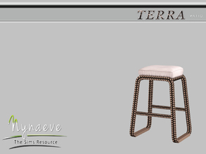 Sims 3 — Terra Barstool by NynaeveDesign — Terra Patio - Barstool Located in: Comfort - Miscellaneous Comfort Price: 82