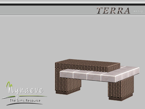 Sims 3 — Terra Coffee Table by NynaeveDesign — Terra Patio - Coffee Table Located in: Surfaces - Coffee Tables Price: 282