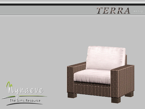Sims 3 — Terra Lounge Chair by NynaeveDesign — Terra Patio - Lounge Chair Located in: Comfort - Miscellaneous Comfort