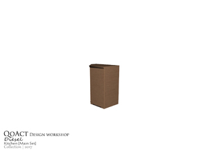 Sims 3 — Diesel Cabinet Left by QoAct — Part of the Diesel Kitchen QoAct Design Workshop | 2017 Kitchen Collection