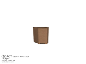 Sims 3 — Diesel Cabinet Right by QoAct — Part of the Diesel Kitchen QoAct Design Workshop | 2017 Kitchen Collection
