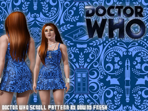 Sims 3 — Doctor Who Scrolled Pattern by Downy Fresh — My first distributed pattern! I found this design on google, please