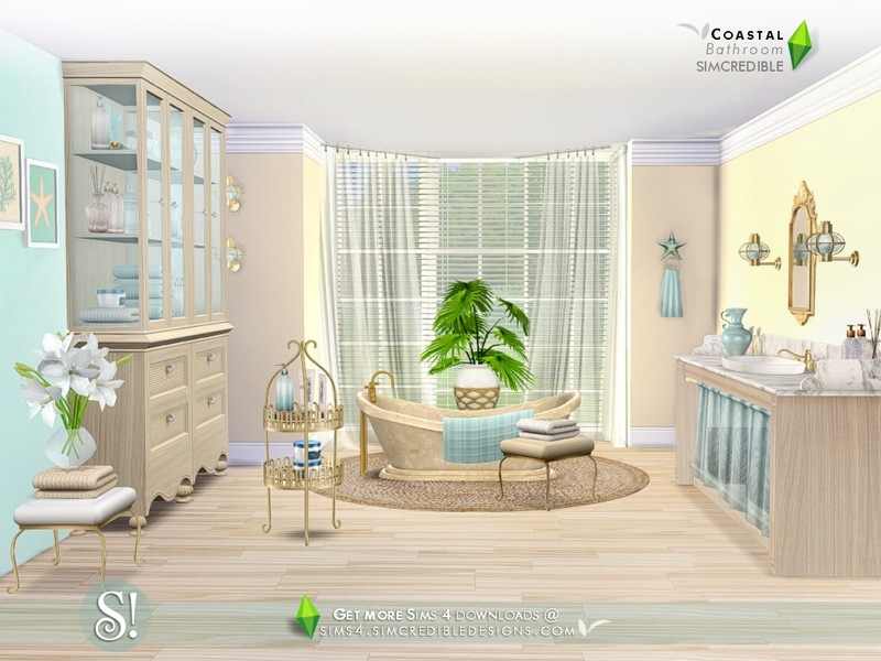 simcredibles coastal bathroom - Coastal Bathroom