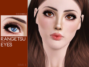 Sims 3 — Rangetsu Eyes by Pralinesims — Eyes with 3 recolorable channels.