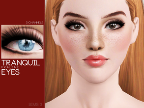 Sims 3 — Tranquil Eyes by Pralinesims — Eyes with 3 recolorable channels.