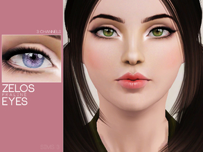 Sims 3 — Zelos Eyes by Pralinesims — Eyes with 3 recolorable channels.