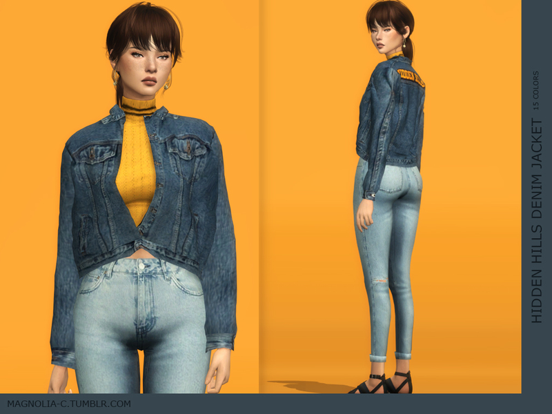 Sims 4 denim jacket cc