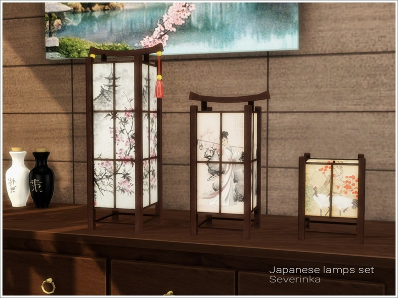 Japanese Lamps Set