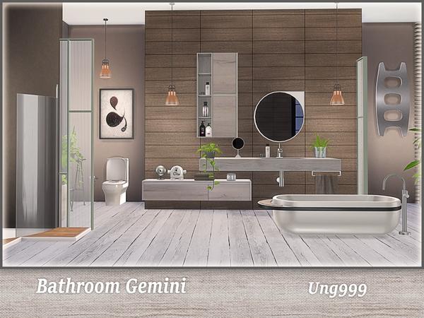 Ung999 39 s bathroom gemini for Bathroom ideas sims 4