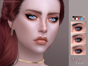 Sims 4 — [ Nina ] - Eyebrows by Screaming_Mustard — New eyebrows for Sims. For females , toddler +. With custom thumb