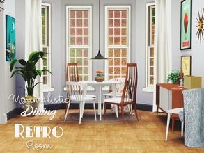 Minimalistic Dining Retro Room