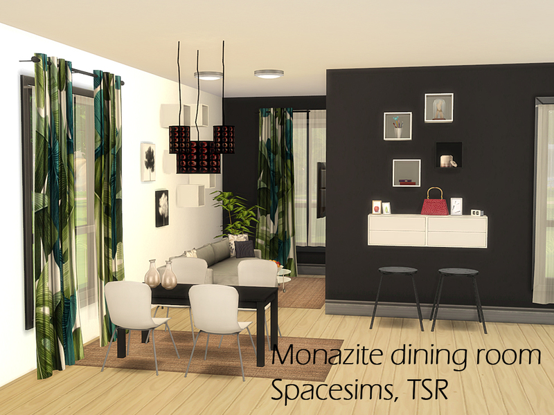 Spacesims 39 monazite dining room for Dining room ideas sims 4
