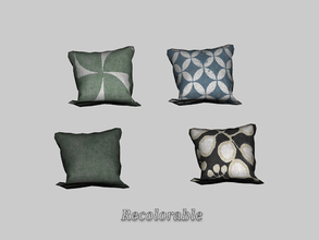 Sims 3 — Under The Sun - Pillow Left by ung999 — Under The Sun - Pillow Left Recolorable Channels : 2 / 3 4 Variations