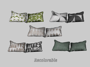 Sims 3 — Under The Sun - Pillow Double by ung999 — Under The Sun - Pillow Double Recolorable Channels : 4 5 Variations