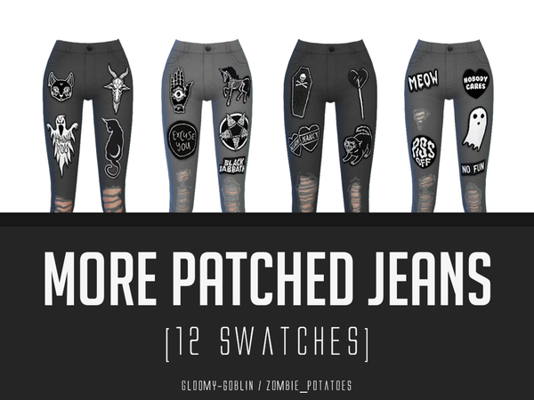 More Patched Jeans