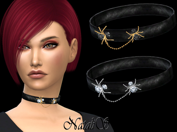 NataliS Choker with Spiders