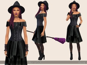 Sims 4 — NewWitch by Paogae — A new dress for your witches or to celebrate the upcoming Halloween. Corset, tulle skirt