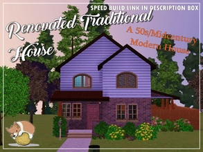 Sims 3 — Renovated Traditional Home: A 50s/Midcentury House by PotatoCorgi — The couple who owns the house loves the