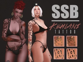 Sims 4 — Kehlani Tattoo by SavageSimBaby — This tattoo is inspired by Kehlani the artist, it comes in 2 shades, and also