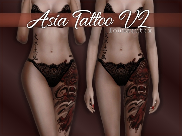 Asia Tattoo V2   Lounacutex