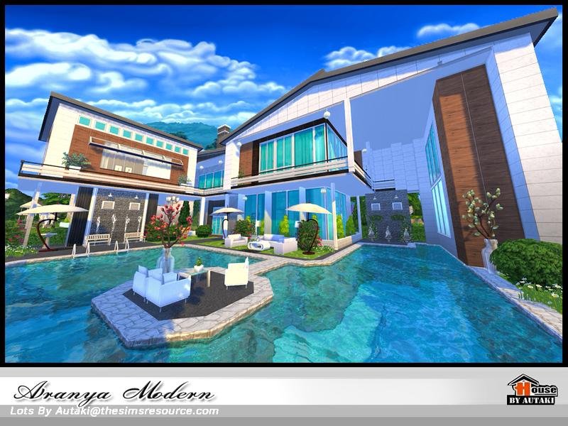 Autaki 39 s aranya modern for Big modern house the sims 4