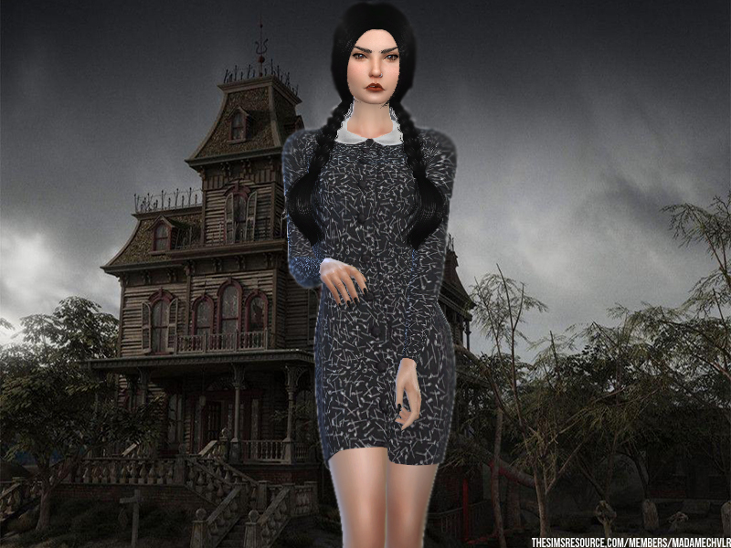 Become a VIP Member and enjoy a fast ad-free TSR + our Download Basket and Quick Download features - from $4.00  sc 1 st  The Sims Resource & MadameChvlru0027s Wednesday Addams Costume