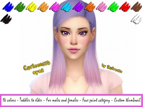 Sims 4 — Cartoonish eyes by KatVerseCC — Cute cartoonlike eyes for your sims 14 colors Toddler - elder For males and