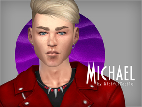 Sims 4 — Michael Wind by WistfulCastle — Michael dreams to become famous musician one day and he's self-confident enough