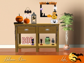 Sims 3 — Halloween Hallway by Lulu265 — A cutesy Halloween set for those of you , that like me are creeped out by spiders