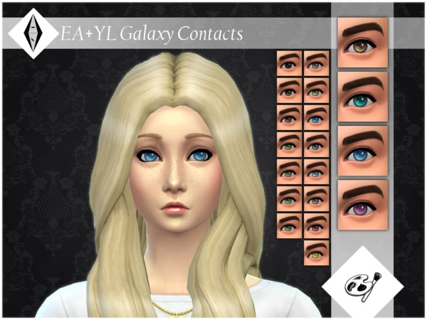 EA+YL Galaxy Contacts Facepaint