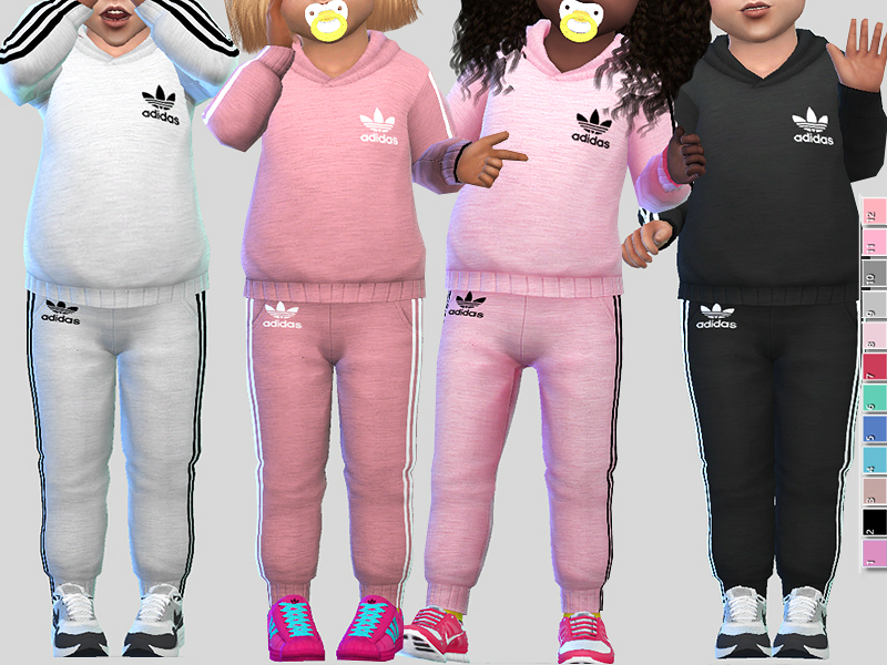 Pinkzombiecupcakes' Adidas Athletic Toddler Outfit