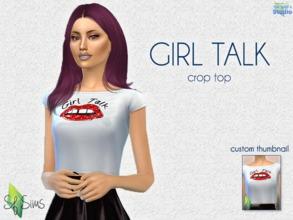 01686e9448ed GIRL TALK Crop Top - SF Sims