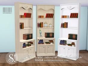 SIMcredibles Sims 4 Bookshelves