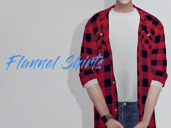 KK Long flannel shirts M