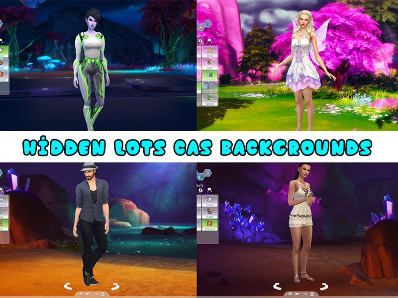 KatVerseCC's Hidden Lots CAS Backgrounds