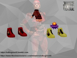 Sims 4 — The Flash JL shoes by xdbogoss95 — You loved The Flash from Justice League too? Perfect! Put on it's iconic