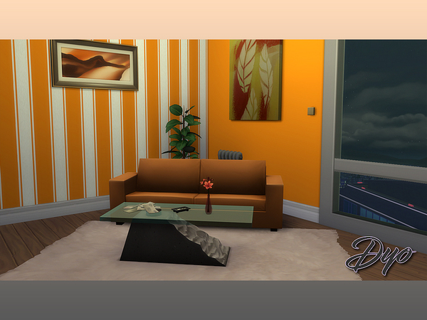 Wall 2 orange