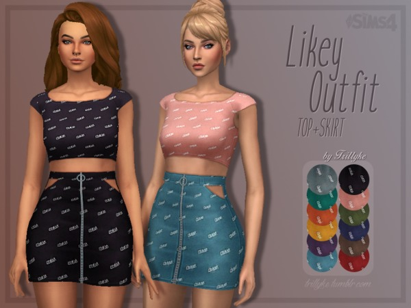 Trillyke - Likey Outfit (Top + Skirt)