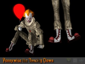 Sims 3 — Pennywise the Dancing Clown Shoes by Shushilda2 — all parts of the outfit can be found on my blog video