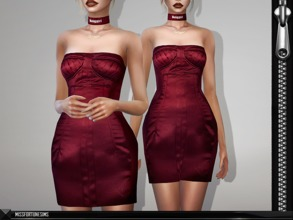 Sims 4 — MFS Epperly Dress by MissFortune — Standalone, Custom thumbnail, 7 Colors