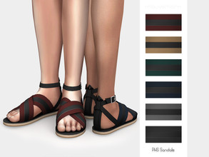 Sims 4 — PHS Sandals by mauvemorn — Crisscross-strap sandals. Read creator notes for more details.
