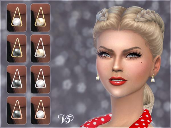 Triangle Pearl Earrings V5