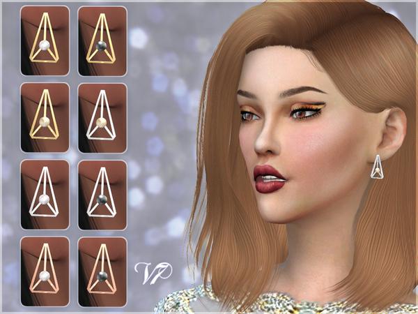 Triangle Pearl Earrings V7