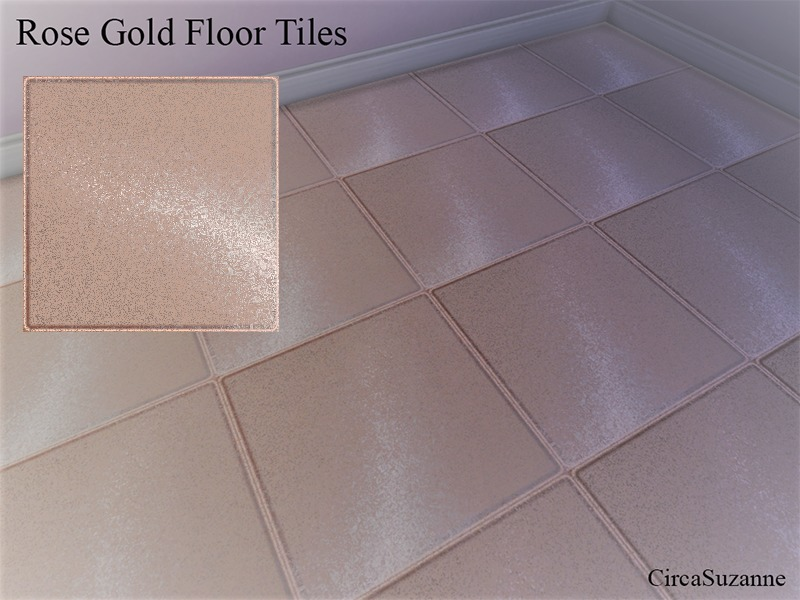 Circasuzannes Rose Gold Floor Tiles